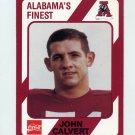 1989 Alabama Coke 580 Football #107 John Calvert - Alabama Crimson Tide