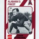 1989 Alabama Coke 580 Football #092 John Wyhonic - Alabama Crimson Tide