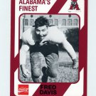 1989 Alabama Coke 580 Football #091 Fred Davis - Alabama Crimson Tide