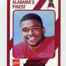1989 Alabama Coke 580 Football #085 Kermit Kendrick - Alabama Crimson Tide