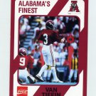 1989 Alabama Coke 580 Football #071 Van Tiffin - Alabama Crimson Tide