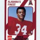 1989 Alabama Coke 580 Football #056 Mike Washington - Alabama Crimson Tide