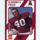 1989 Alabama Coke 580 Football #033 David Ray - Alabama Crimson Tide