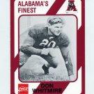1989 Alabama Coke 580 Football #022 Don Whitmire - Alabama Crimson Tide