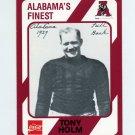 1989 Alabama Coke 580 Football #006 Tony Holm - Alabama Crimson Tide