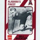 1989 Alabama Coke 580 Football #004 Bill Buckler - Alabama Crimson Tide