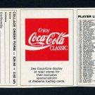 1989 Alabama Coke 580 Football #NNO Checklist #3