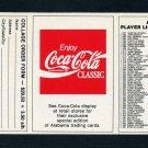 1989 Alabama Coke 580 Football #NNO Checklist #4