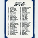 1990-91 Clemson Collegiate Collection #200 Director Card 101-200 - Clemson Tigers