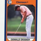1990-91 Clemson Collegiate Collection #143 Oswald Drawdy - Clemson Tigers