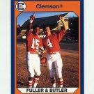 1990-91 Clemson Collegiate Collection #141 Steve Fuller / Jerry Butler - Clemson Tigers