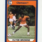 1990-91 Clemson Collegiate Collection #136 Clyde Browne - Clemson Tigers
