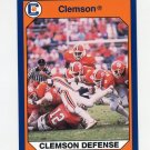 1990-91 Clemson Collegiate Collection #126 Defensive Rankings - Clemson Tigers