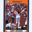 1990-91 Clemson Collegiate Collection #118 Andy Headen - Clemson Tigers