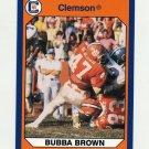 1990-91 Clemson Collegiate Collection #107 Bubba Brown - Clemson Tigers