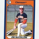 1990-91 Clemson Collegiate Collection #103 Jim McCollom - Clemson Tigers