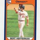 1990-91 Clemson Collegiate Collection #079 Bert Heffernan - Clemson Tigers