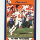 1990-91 Clemson Collegiate Collection #073 Kenny Flowers - Clemson Tigers