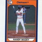 1990-91 Clemson Collegiate Collection #059 Randy Mazey - Clemson Tigers