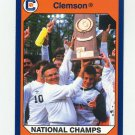 1990-91 Clemson Collegiate Collection #049 Soccer Team Wins '87  - Clemson Tigers
