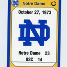 1990 Notre Dame 200 Football #188 1973 USC
