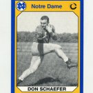 1990 Notre Dame 200 Football #181 Don Schaefer - University of Notre Dame