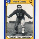 1990 Notre Dame 200 Football #159 Ziggy Czarobski - University of Notre Dame