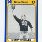 1990 Notre Dame 200 Football #153 Monty Stickles - University of Notre Dame