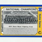 1990 Notre Dame 200 Football #142 1977 National Champs - University of Notre Dame