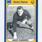 1990 Notre Dame 200 Football #106 Jack Cannon - University of Notre Dame