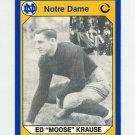 1990 Notre Dame 200 Football #105 Moose Krause - University of Notre Dame