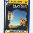 1990 Notre Dame 200 Football #074 Sunkist Fiesta Bowl - University of Notre Dame