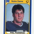 1990 Notre Dame 200 Football #071 Phil Pozderac - University of Notre Dame