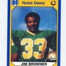1990 Notre Dame 200 Football #038 Jim Browner - University of Notre Dame