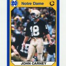 1990 Notre Dame 200 Football #029 John K. Carney - University of Notre Dame
