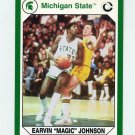 1990-91 Michigan State Collegiate Collection 200 #186 Magic Johnson - Michigan State Spartans