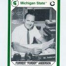 1990-91 Michigan State Collegiate Collection 200 #172 Forrest Anderson - Michigan State Spartans