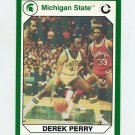 1990-91 Michigan State Collegiate Collection 200 #169 Derek Perry - Michigan State Spartans