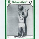1990-91 Michigan State Collegiate Collection 200 #160 Dave Fahs - Michigan State Spartans