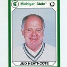 1990-91 Michigan State Collegiate Collection 200 #159 Jud Heathcote - Michigan State Spartans