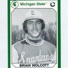 1990-91 Michigan State Collegiate Collection 200 #157 Brian Wolcott - Michigan State Spartans