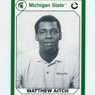 1990-91 Michigan State Collegiate Collection 200 #141 Matthew Aitch - Michigan State Spartans