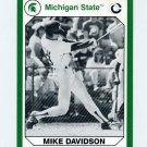 1990-91 Michigan State Collegiate Collection 200 #126 Mike Davidson - Michigan State Spartans
