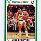1990-91 Michigan State Collegiate Collection 200 #122 Mike Brkovich - Michigan State Spartans