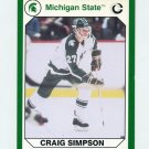 1990-91 Michigan State Collegiate Collection 200 #097 Craig Simpson - Michigan State Spartans