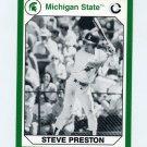 1990-91 Michigan State Collegiate Collection 200 #065 Steve Preston - Michigan State Spartans