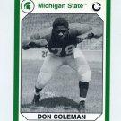 1990-91 Michigan State Collegiate Collection 200 #027 Don Coleman - Michigan State Spartans