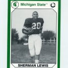 1990-91 Michigan State Collegiate Collection 200 #013 Sherman Lewis - Michigan State Spartans