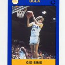 1991 UCLA Collegiate Collection #026 Gig Sims - UCLA Bruins