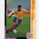 1994 Upper Deck World Cup Contenders English/Spanish Soccer #328 Adolfo Valencia - Colombia